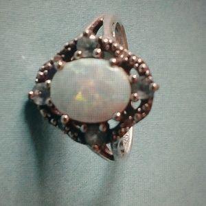 Beautiful white opal
